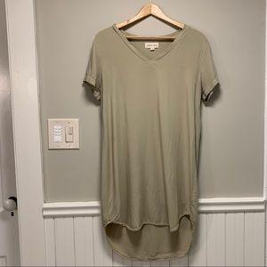 Cloth & Stone Shirt Dress ~ Green ~ Size Medium